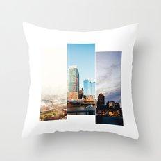 A day in Boston Throw Pillow