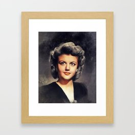 Angela Lansbury, Actress Framed Art Print