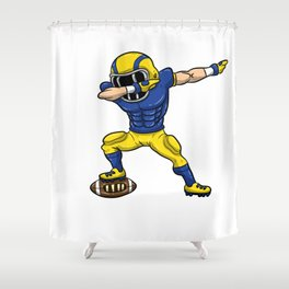 Dabbing Football Player T Shirt Rugby Shower Curtain