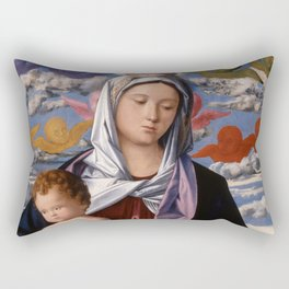 "Giovanni Bellini ""Madonna and Child with St. John the Baptist"" Rectangular Pillow"