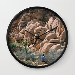 Towards the rocks Wall Clock