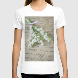 Love letter with lily of the valley T-shirt