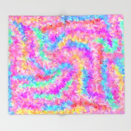 smudged rainbow Throw Blanket