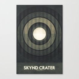Umbriel - Skynd Crater Canvas Print