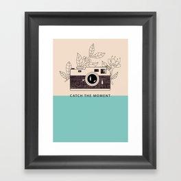 Catch the moment Framed Art Print
