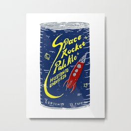Space Rocket Pale Ale Metal Print