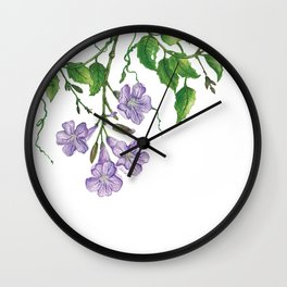 Trumpet blooms Wall Clock
