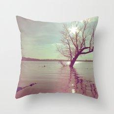 Peaceful Lake! Throw Pillow