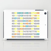 numbers iPad Cases featuring Numbers by Andrew Reid