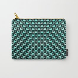 Mermaid Scales in Metallic Turquoise Carry-All Pouch