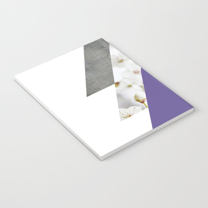 Ultra Violet Blossoms Arrows Notebook