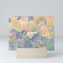 The Artist's Garden at Saint-Clair by Henri-Edmond Cross 1904-5, French Mini Art Print