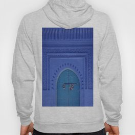 Islamic Architecture Blue Turquoise Secret Doorway Beautiful Engravings Hoody