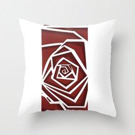 Vertigo Rose Throw Pillow