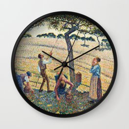 Camille Pissarro - Apple Harvest Wall Clock
