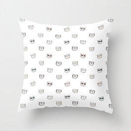 Hipster Kitties Throw Pillow