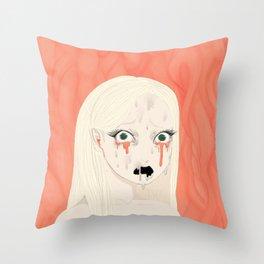 Dissolving Keiko Arisu Throw Pillow