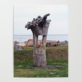 Driftwood Sea Captain Poster