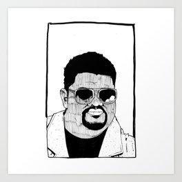 Heavy D & the Boyz - BLM - Hip Hop - Society6 - Dwight Arrington Myers - 2 Art Print