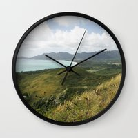 hawaii Wall Clocks featuring Hawaii by Kakel-photography