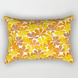 Chestnut tree autumn leaves Rectangular Pillow