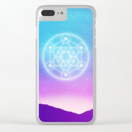 Sacred Geometry (Metatron) Clear iPhone Case