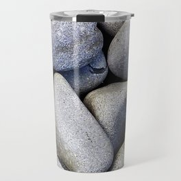 Sea Stones - Gray Rocks, Texture, Pattern Travel Mug