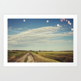 Dirt Road Art Print