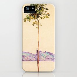 Egon Schiele - Little tree (new editing) iPhone Case