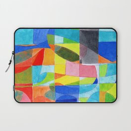 Grid with integrated Bizarre Shapes Laptop Sleeve