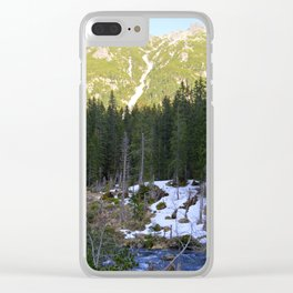 The Snow is Melting Clear iPhone Case