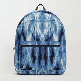 Blue Satin Shibori Argyle Backpack