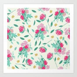Watercolor Tulips Art Print