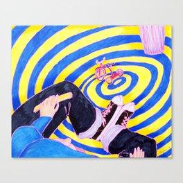 Blue Hoodie Canvas Print
