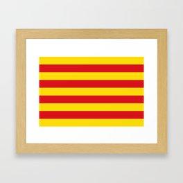 Catalan Flag - Senyera - Authentic High Quality Framed Art Print