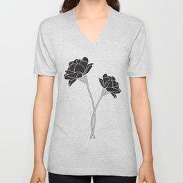 Flower Stems Unisex V-Neck