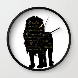 We Walk as Lions Wall Clock