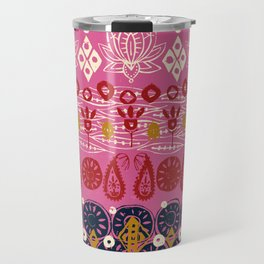 lotus block pink Travel Mug