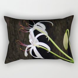 Swamp Lilly and Dark Wood Rectangular Pillow