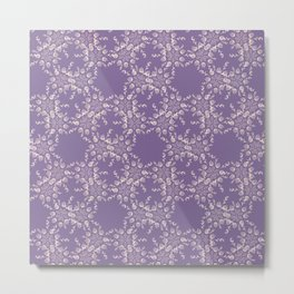 Dusty Purple and Lace Metal Print