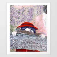 hunting Art Prints featuring Hunting  by Katty Huertas