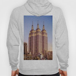 Empire State Building Surreal New York Skyline Hoody