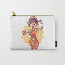 Illustration Indian Bharatnatyam Dance Form Carry-All Pouch