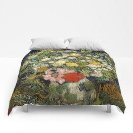 """Vincent Van Gogh """"Bouquet of Flowers in a Vase"""" Comforters"""