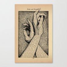 Pride & Prejudice, Page 142: Hands Canvas Print