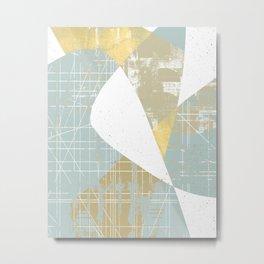 modern mid century, Geometric art, contemporary art, Scandinavian art, retro art, poster print Metal Print