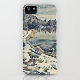 Mountain Lake Trail, California iPhone Case