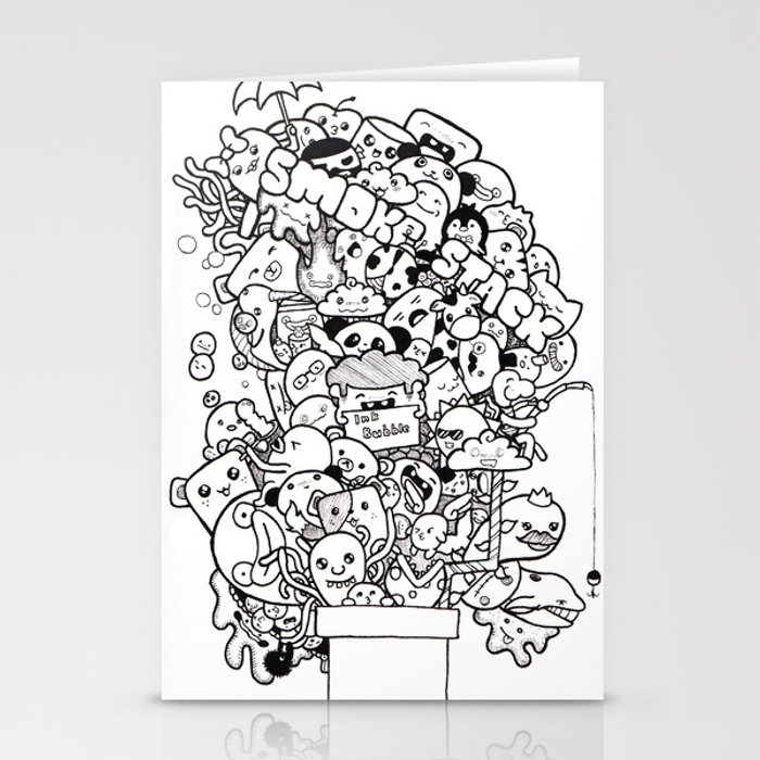 Ink Stack Stationery Cards
