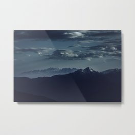 Lonely peak of the mountains Metal Print