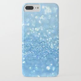 Sparkling Baby Sky Blue Glitter Effect iPhone Case